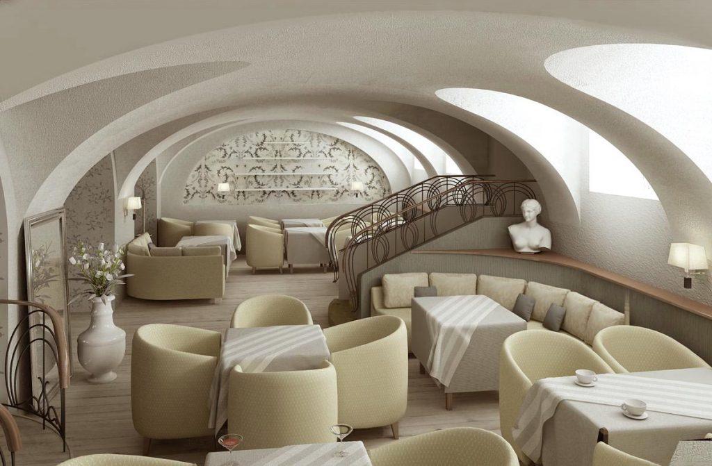 Дизайн интерьера зала ресторана Приют холостяка