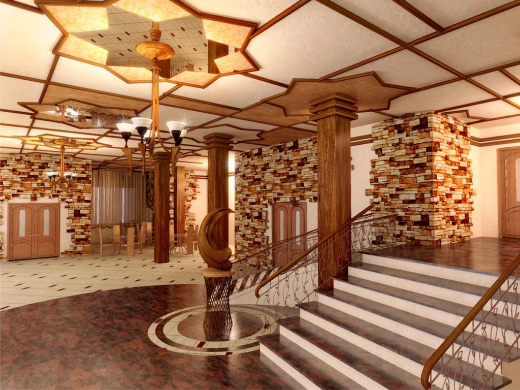 Дизайн интерьера холла гостиницы