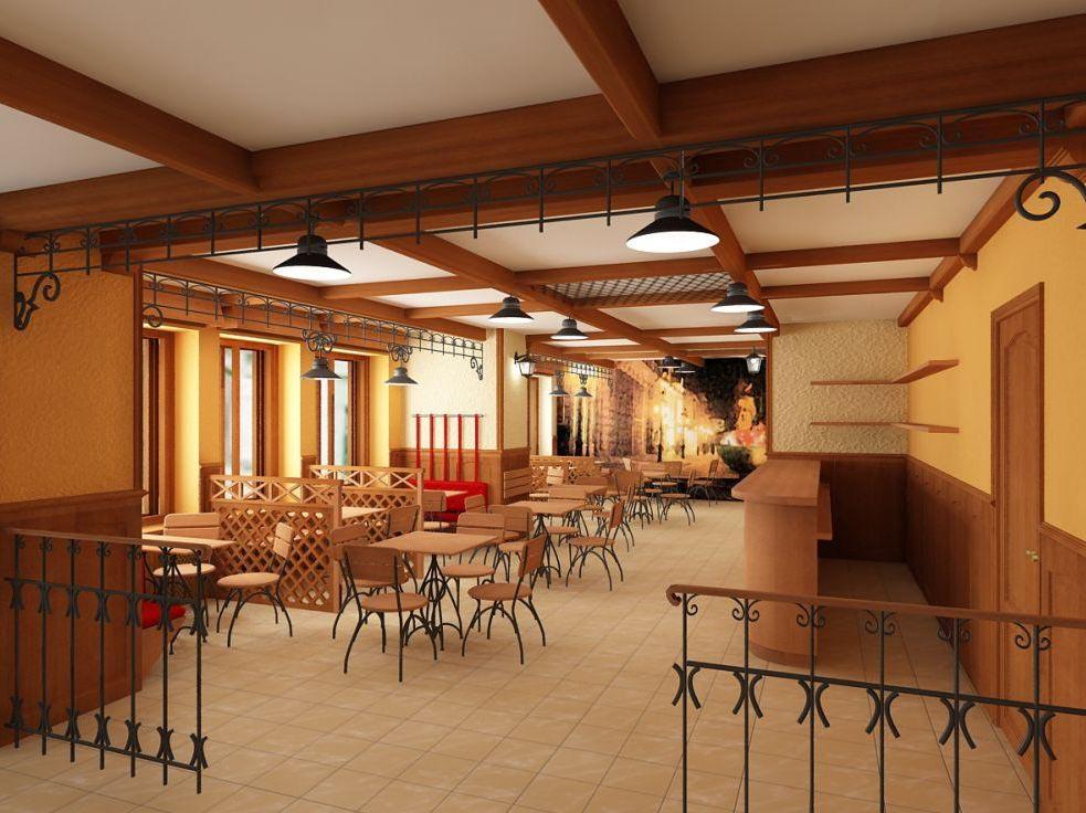 Дизайн интерьера зала ресторана