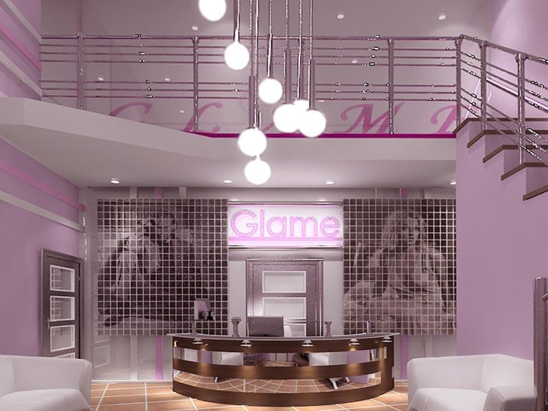 Дизайн интерьера холла в фитнес центре