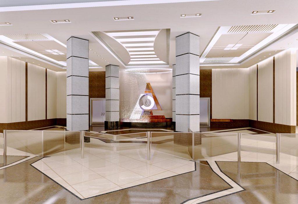 Дизайн интерьера холла в административном здании