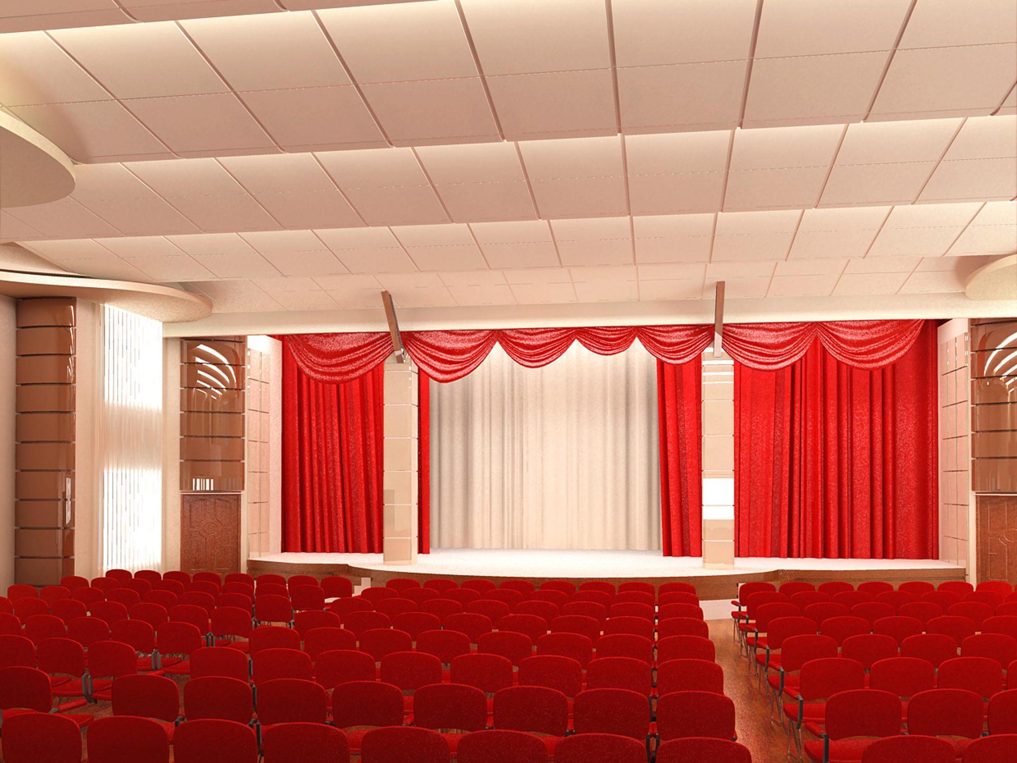 Проект дизайна интерьера конферец зала