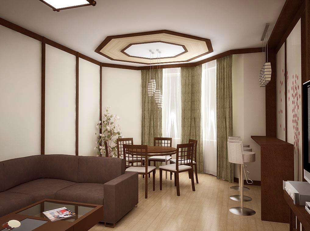 Дизайн интерьера столовой в японском стиле