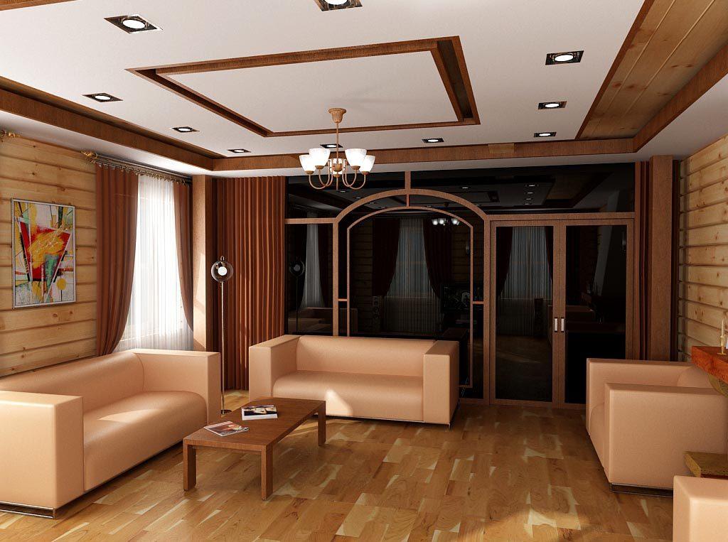Дизайн интерьера гостиной со стеклянной перегородкой