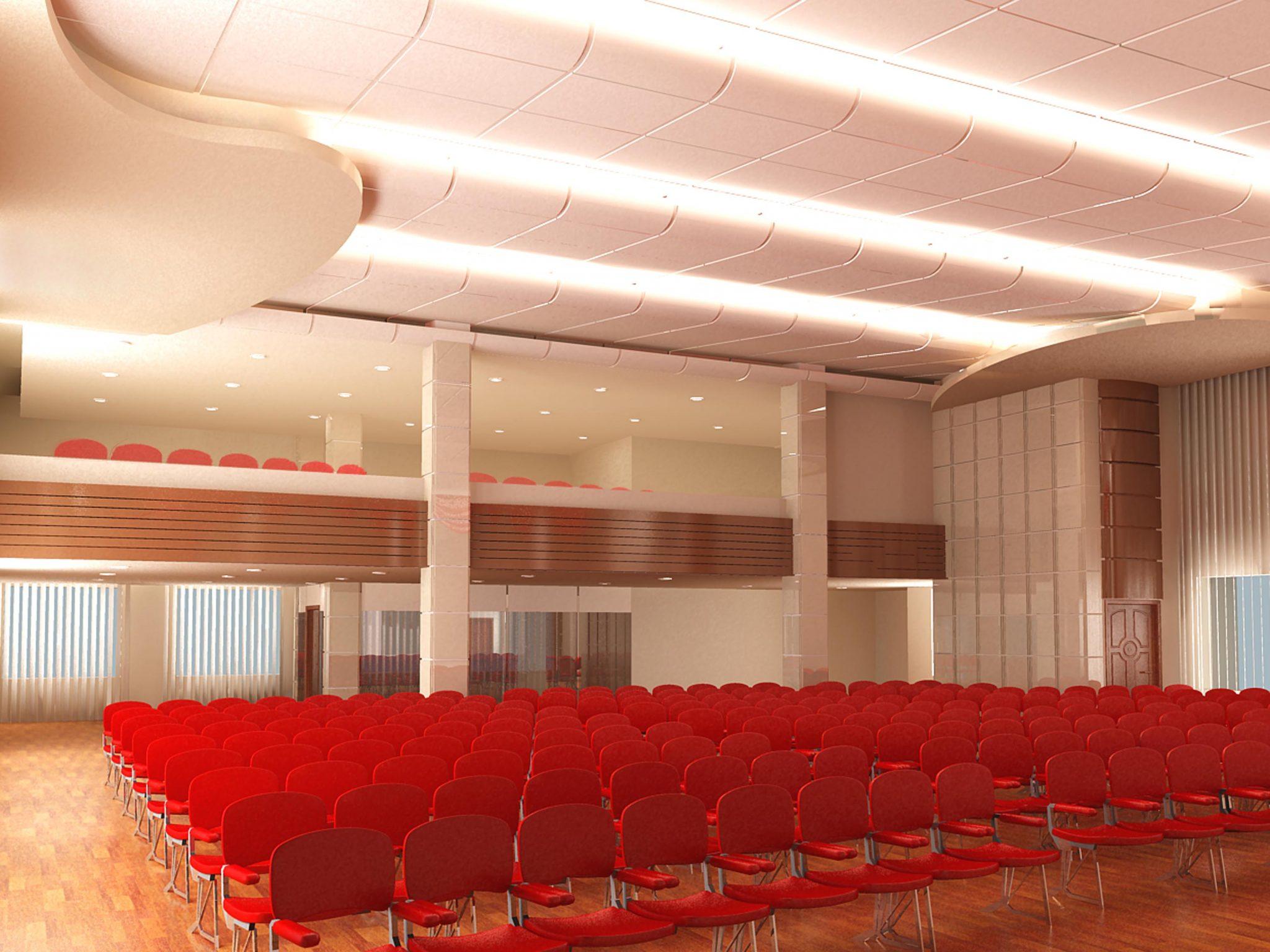 Дизайн интерьера конферец зала