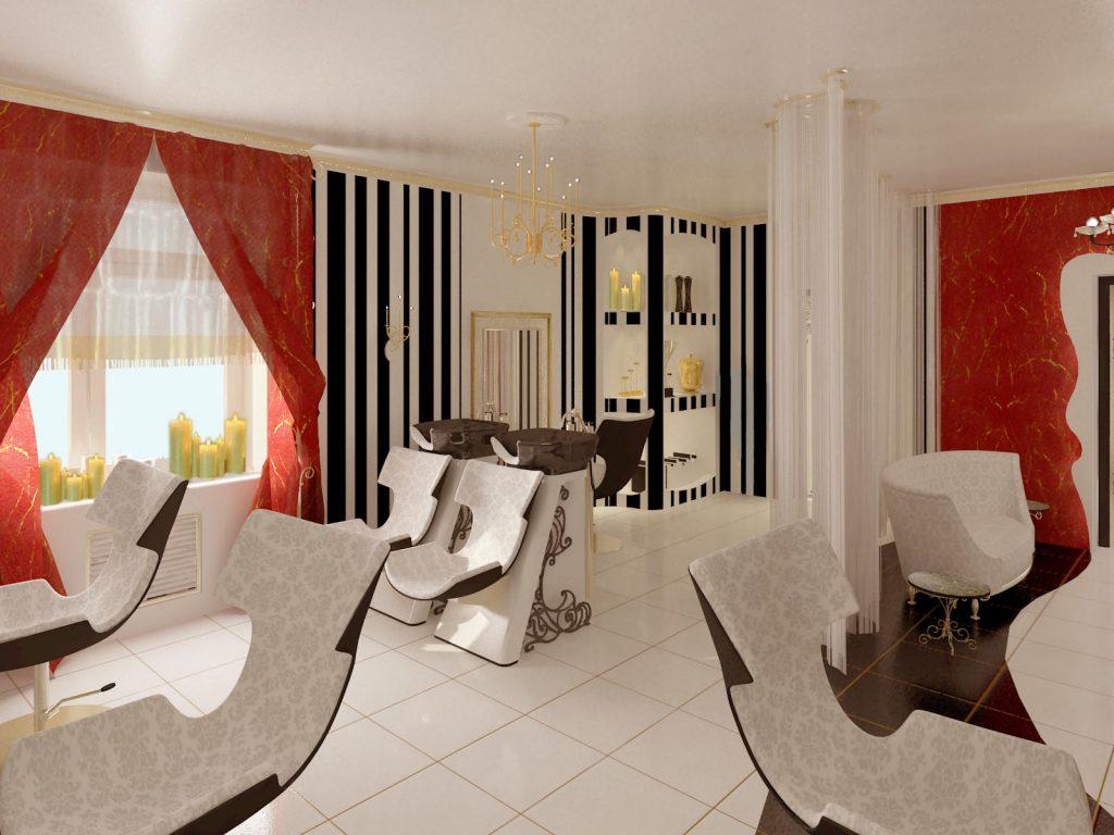 Дизайн интерьера зала в салоне красоты
