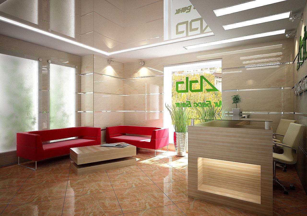 Дизайн интерьера операционного зала в банке