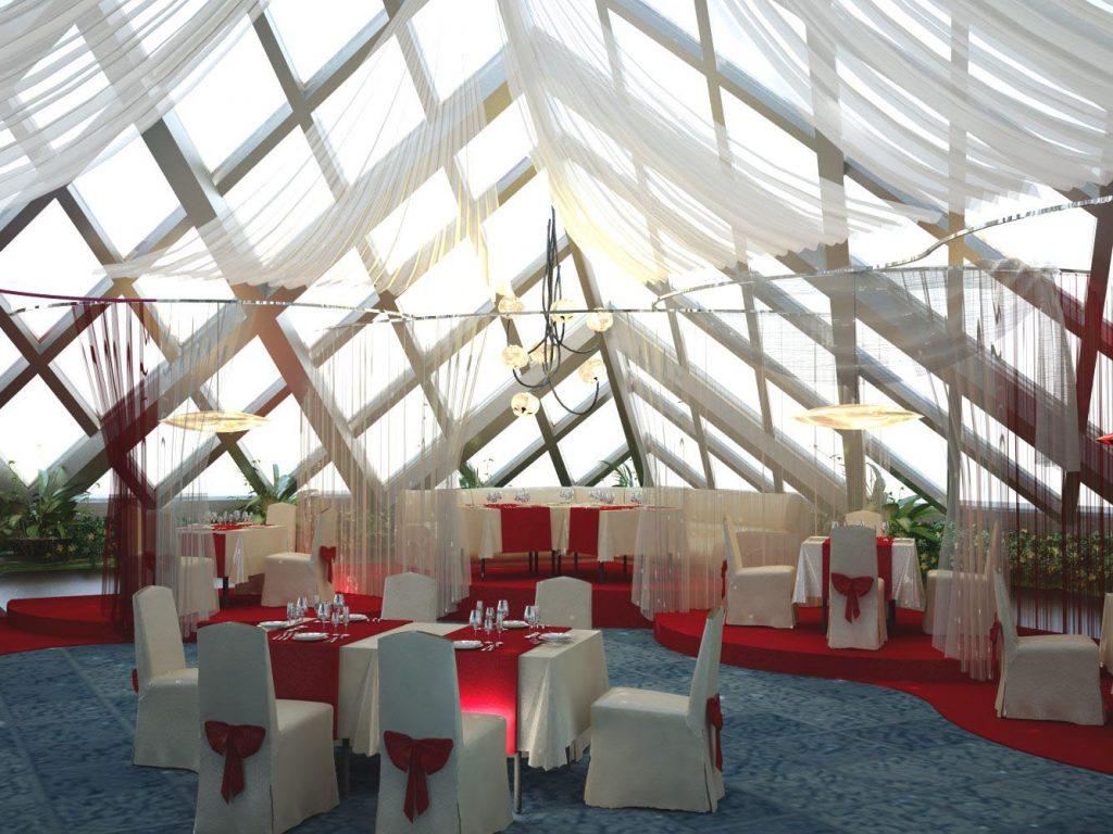 Дизайн интерьера ресторана Пирамида