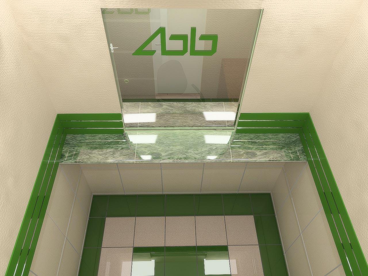 Дизайн интерьера кассовой кабинки в отделении банка