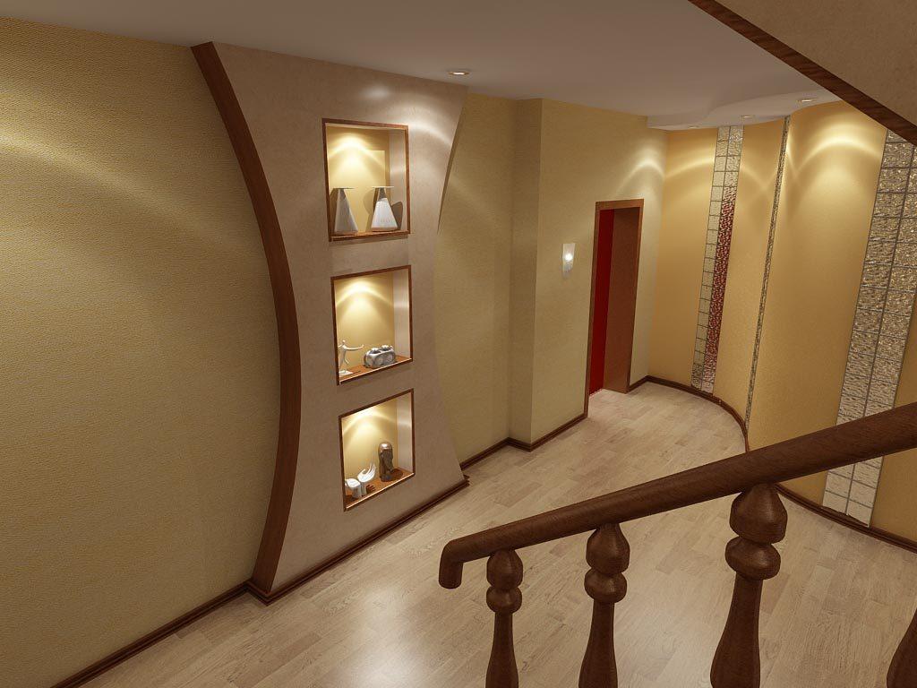 Лестничный холл в цокольном этаже дома