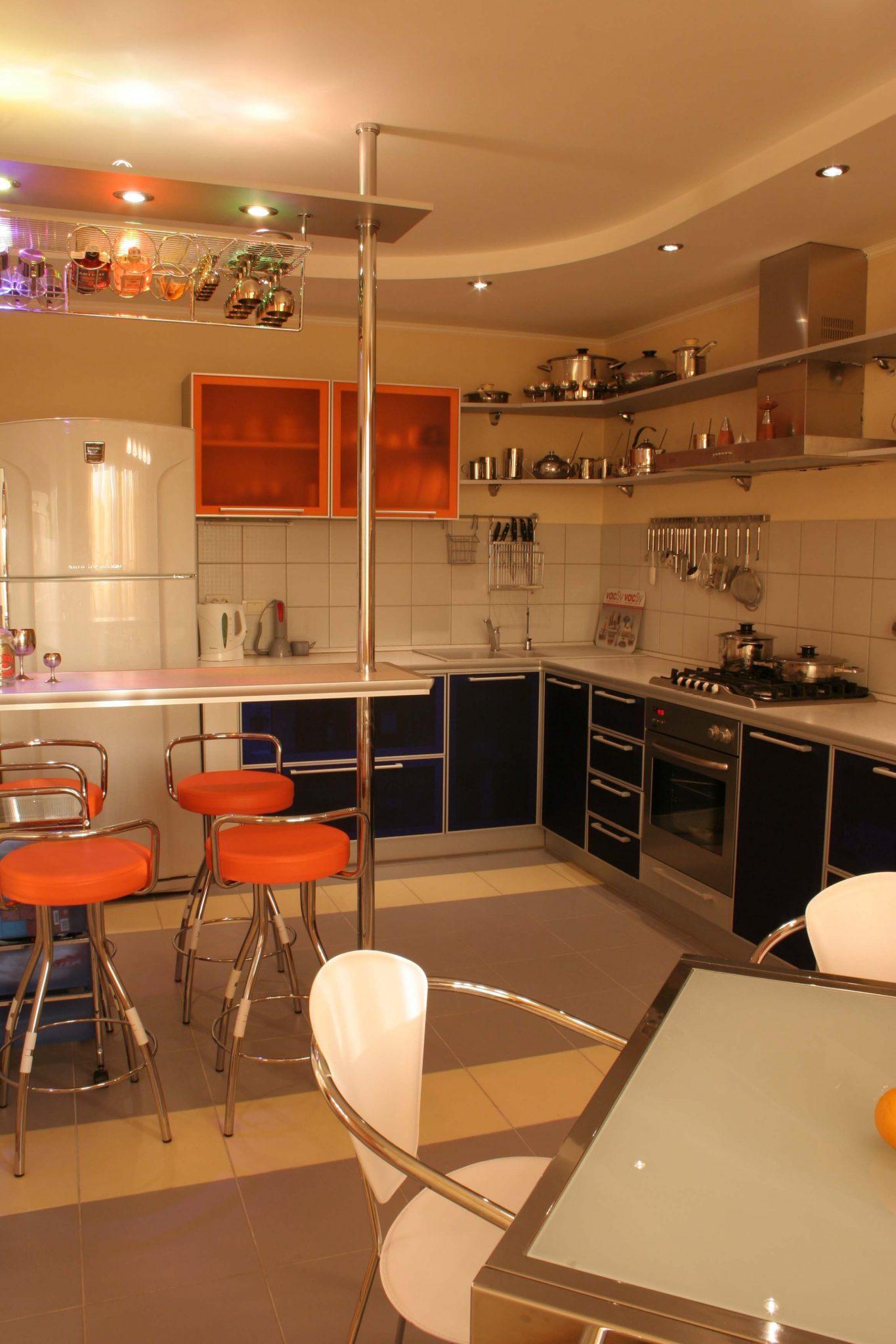 Фото воплощенного интерьера кухни