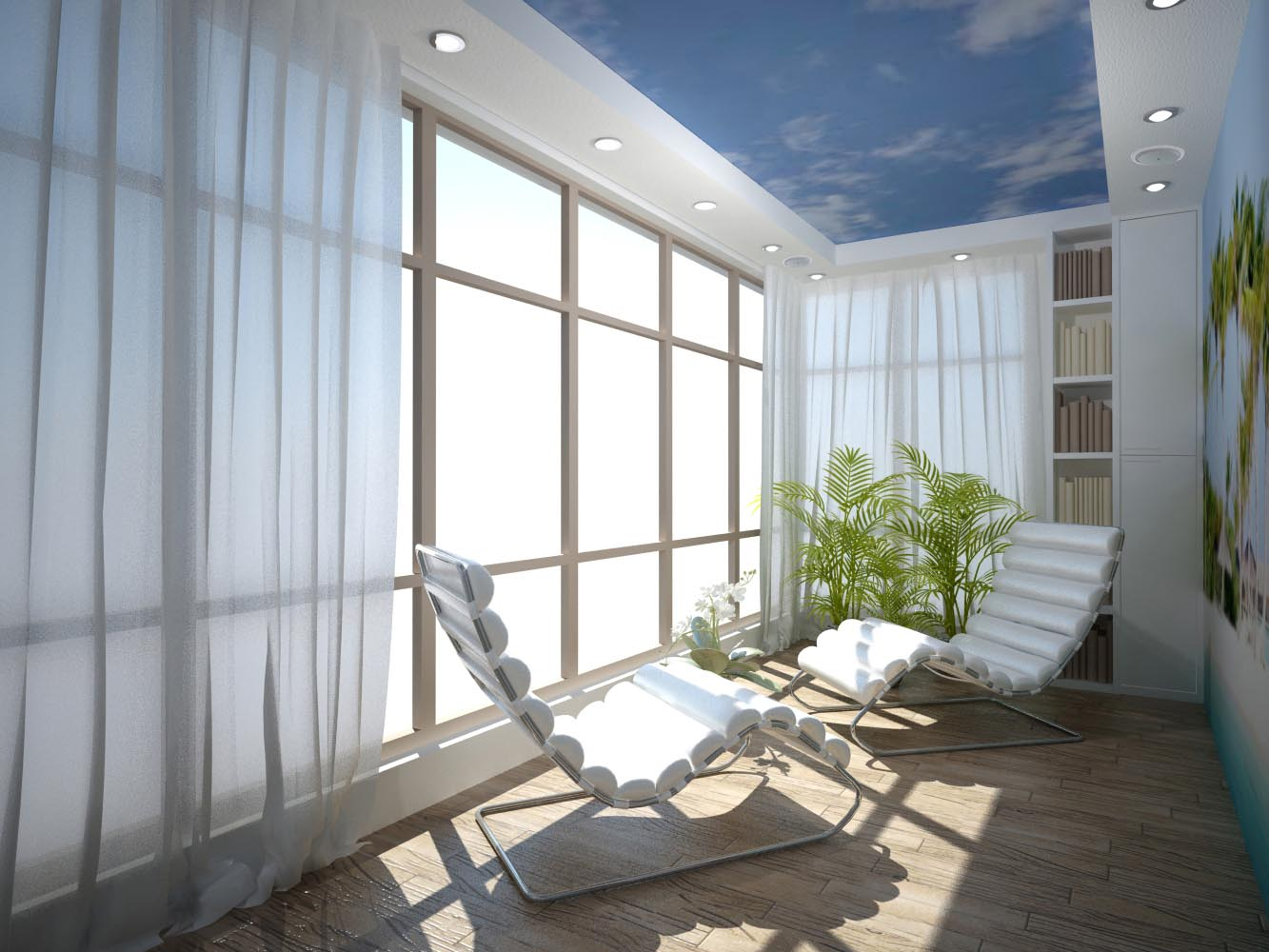 Дизайн интерьера комнаты отдыха