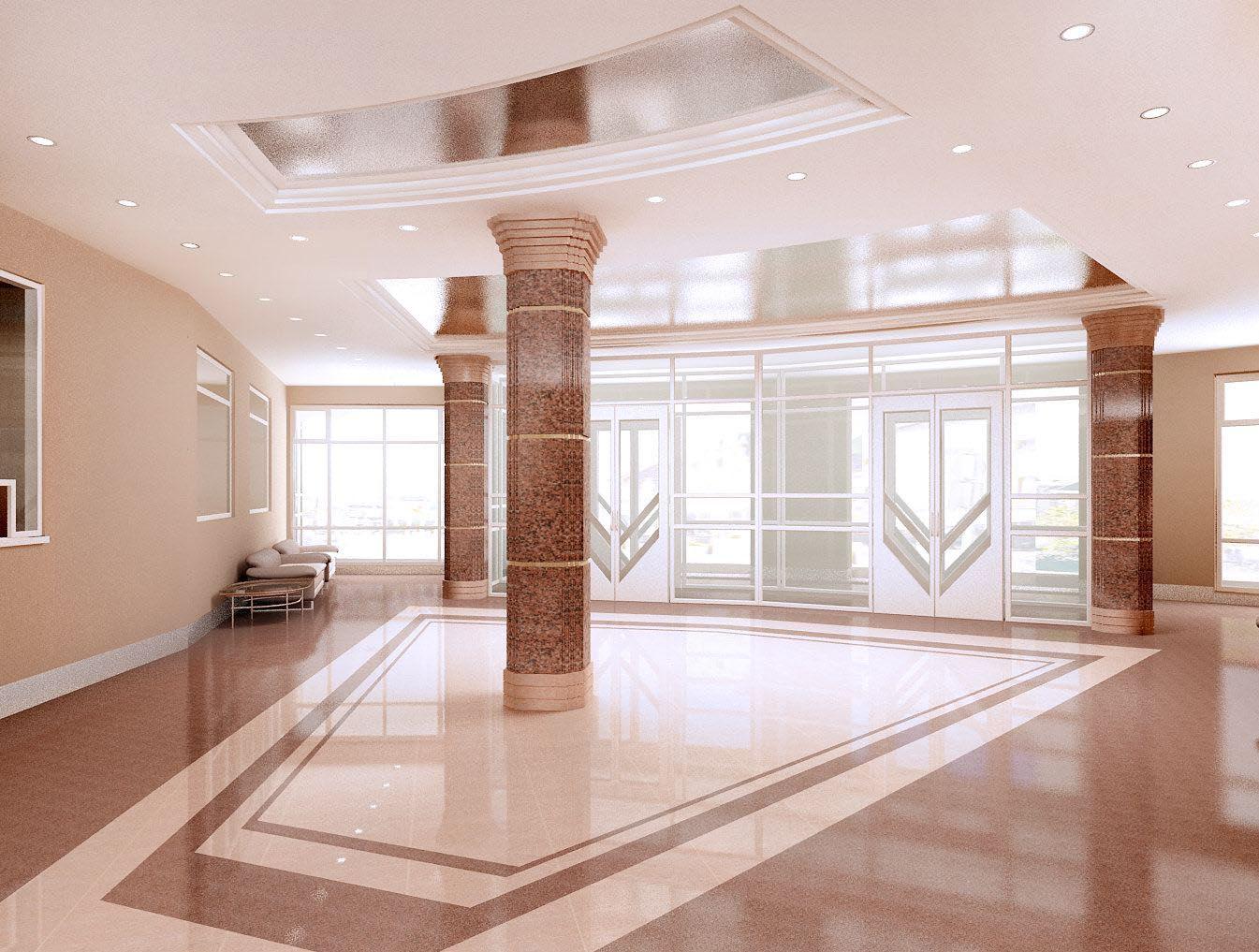 Проект дизайна интерьера холла картинг-центра Форсаж