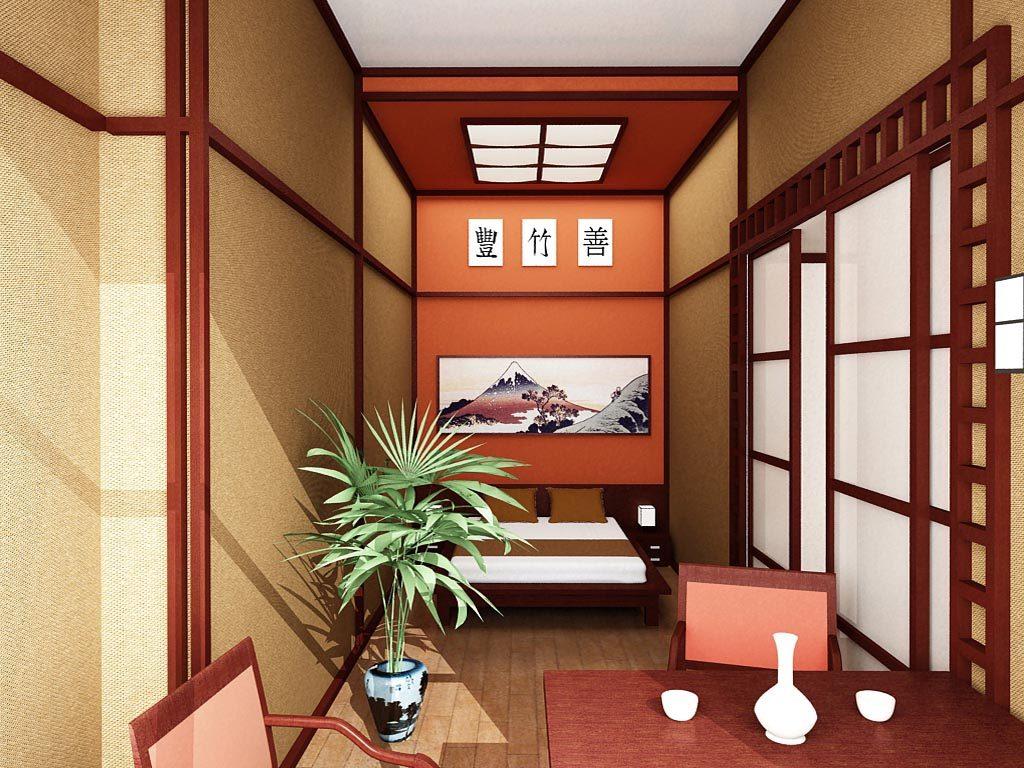 Дизайн интерьера гостиничного номера в японском стиле