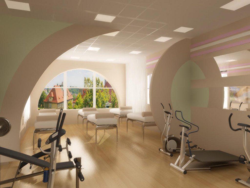 Дизайн интерьера кардиотренажерного зала