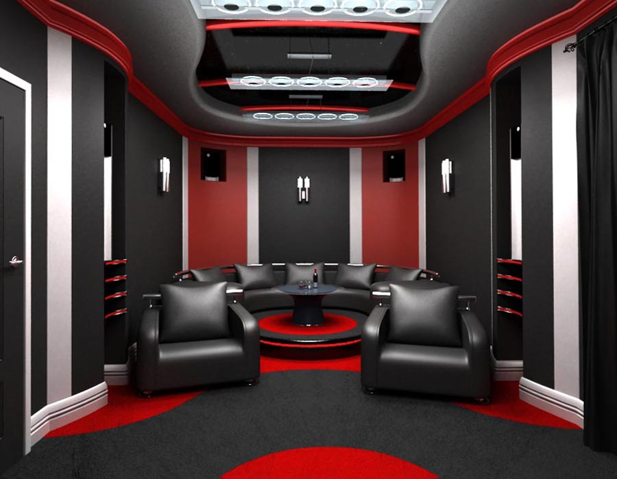 Дизайн интерьера домашнего кинотеатра