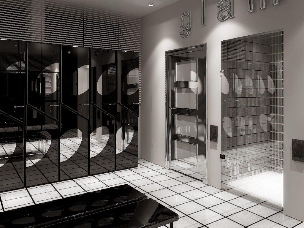 Дизайн интерьера мужской раздевалки в фитнес центре
