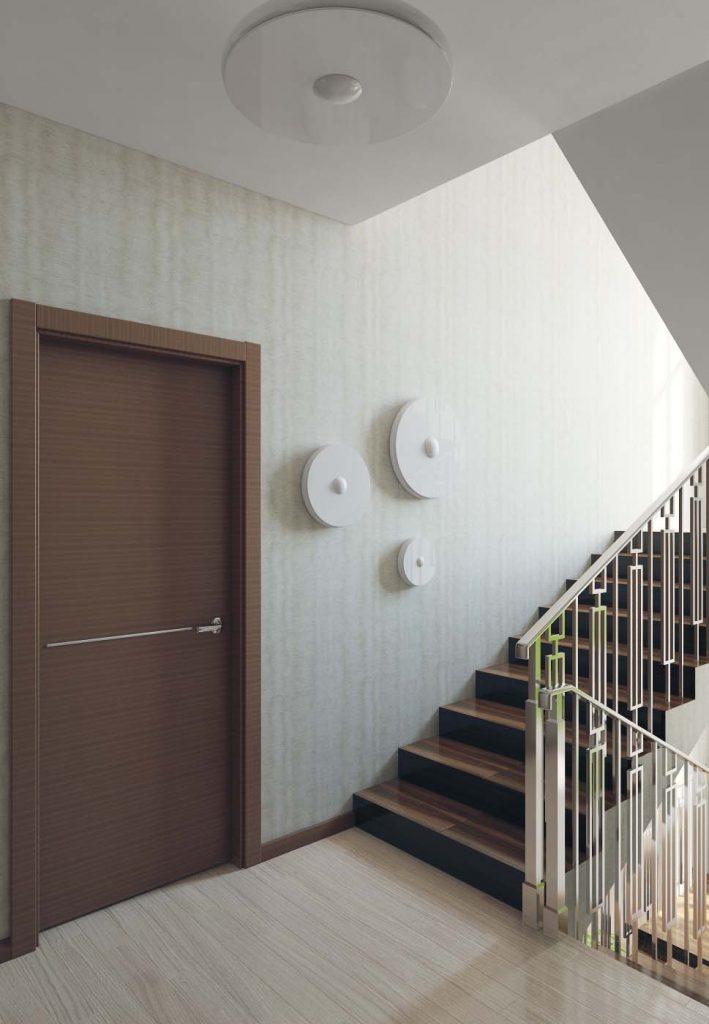 Дизайн интерьера лестничного пролета в доме