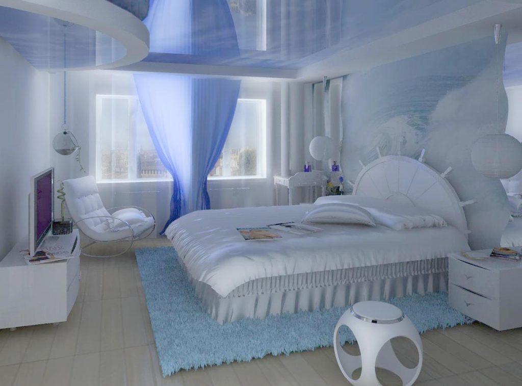 Вариант дизайна интерьера гостевой спальни