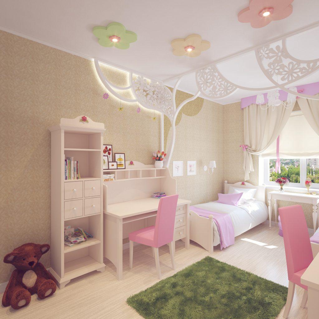 Дизайн интерьера детской для девочек