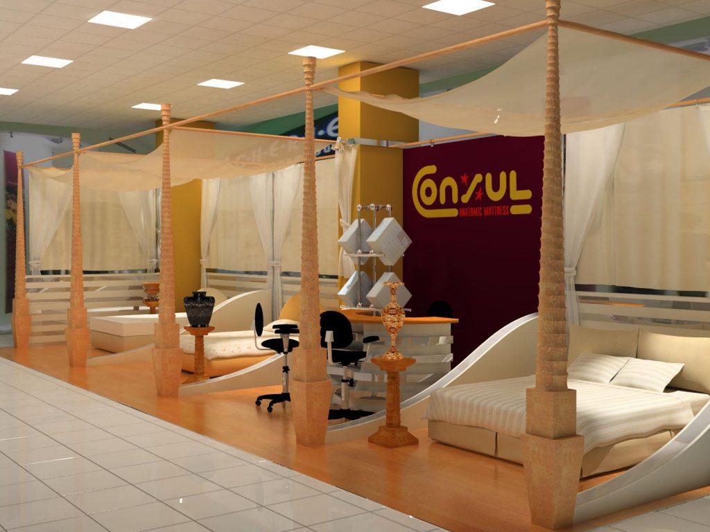 Магазин ортопедических матрасов «Консул» в ТЦ «Мегга»