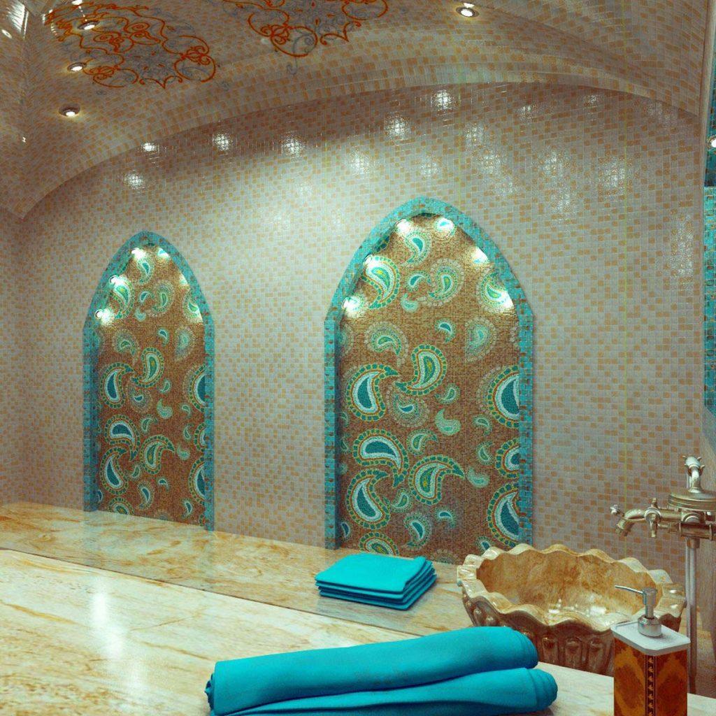 Дизайн интерьера турецкой сауны