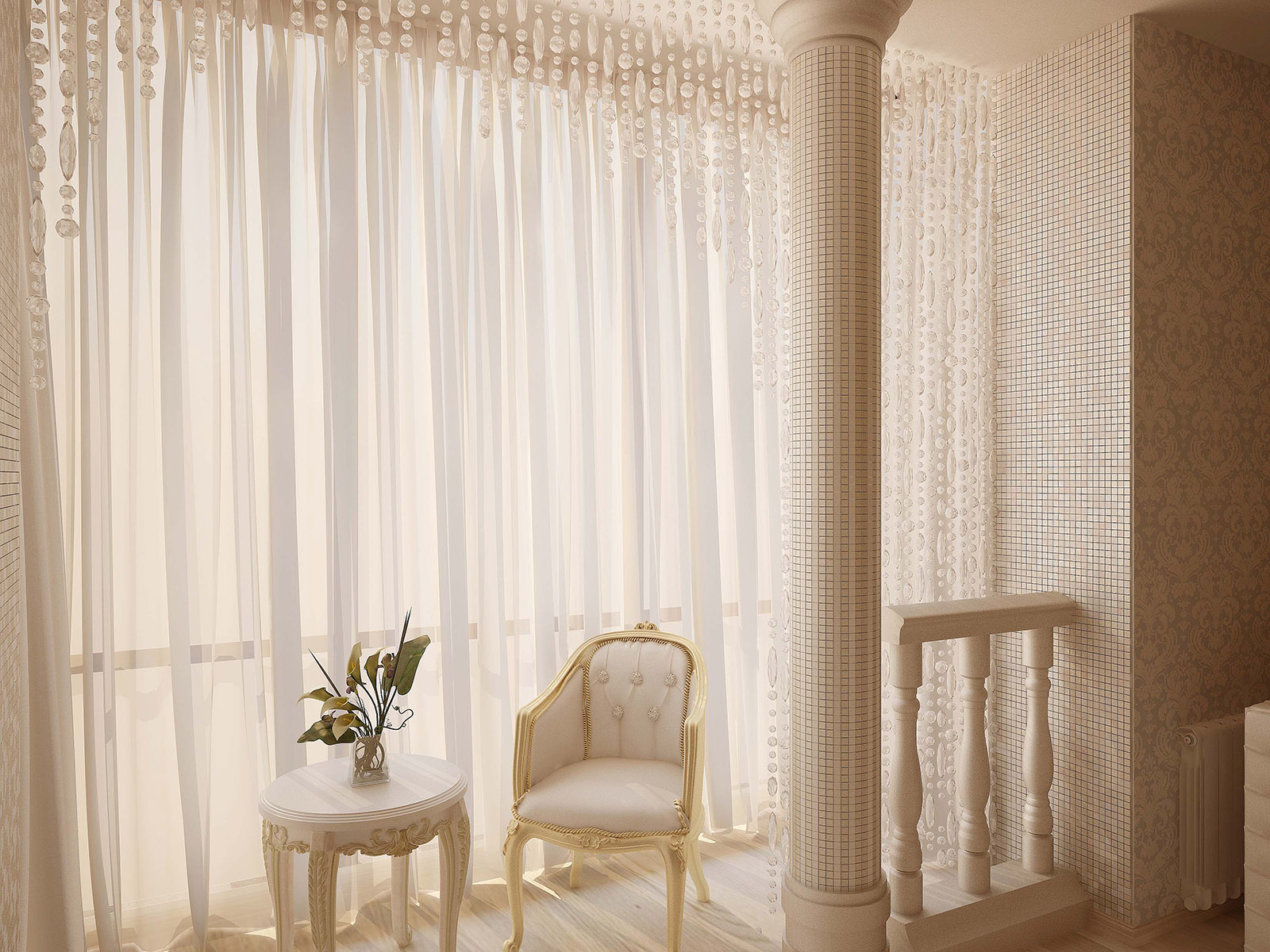 Присоединение балкона позволило сделать гостиную более светлой и просторной