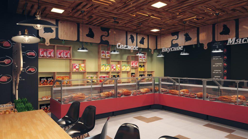 Интерьер мясного магазина