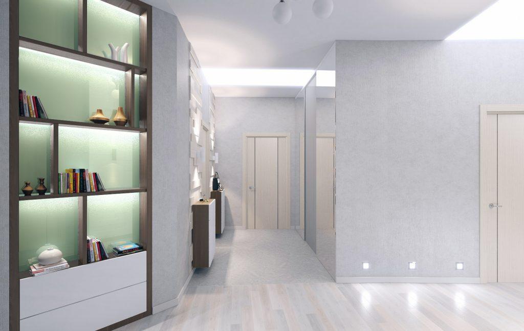 Мятный оттенок присутствует в деталях интерьера всей квартиры. Это создает ощущение целостности и единства всех помещений.