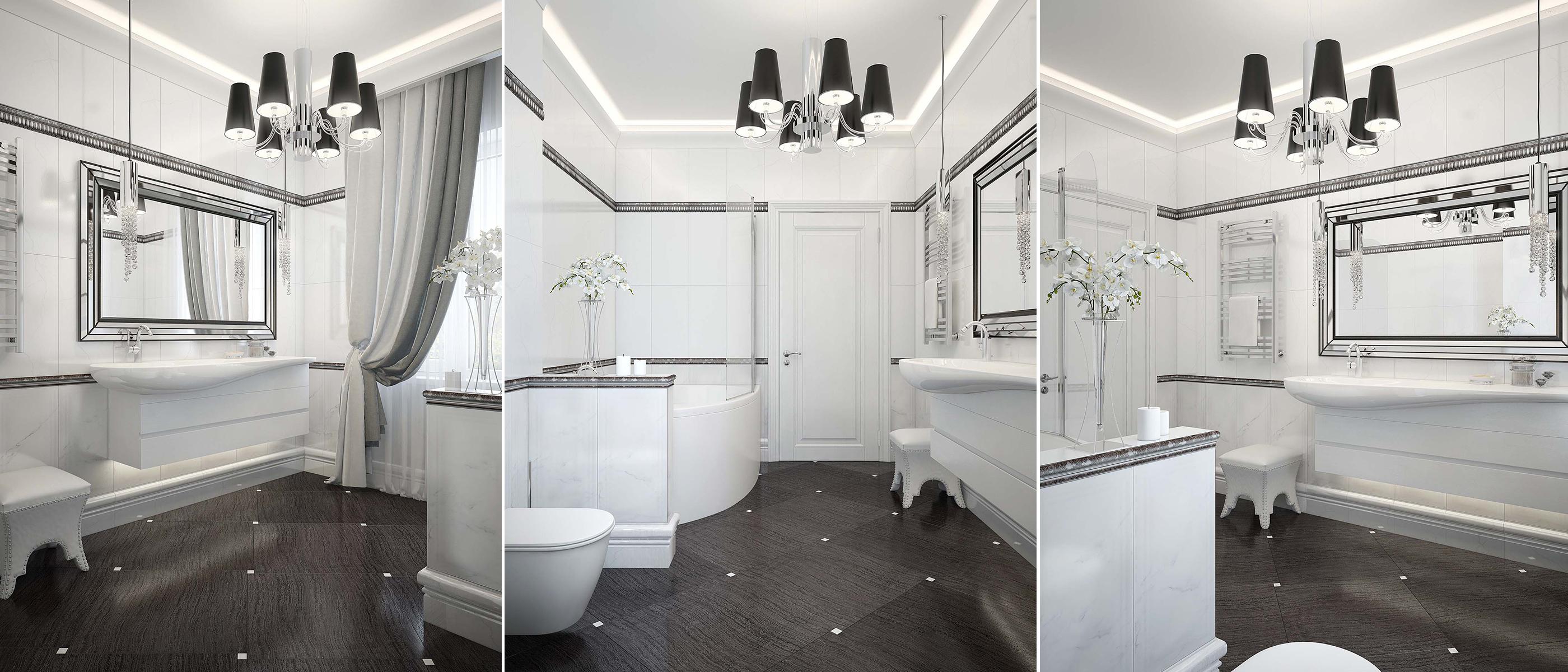 Дизайн интерьера ванной комнаты 1 этажа