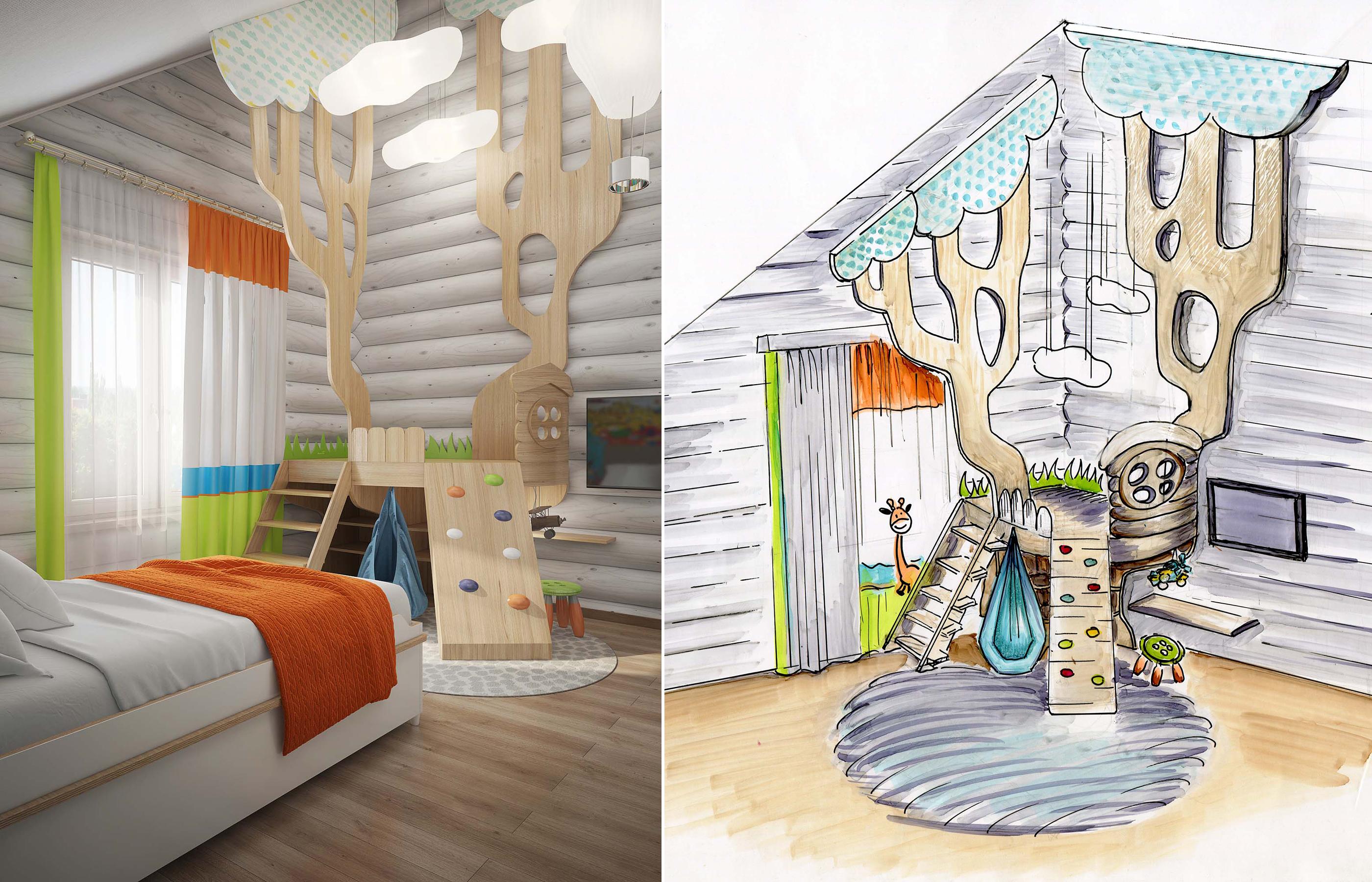 Дизайн игровой зоны в детской комнате