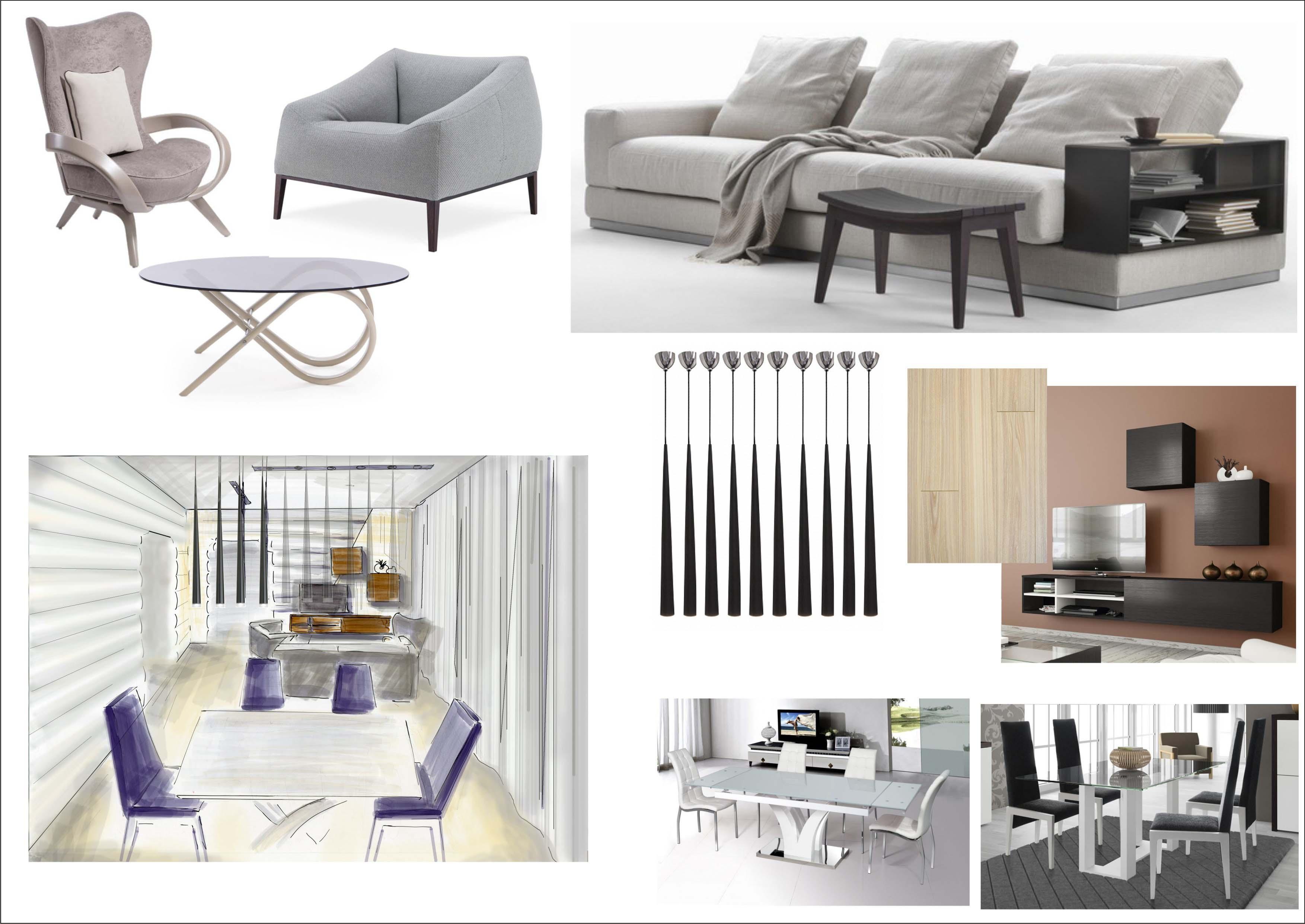 Концепция дизайна интерьера гостиной в деревянном доме