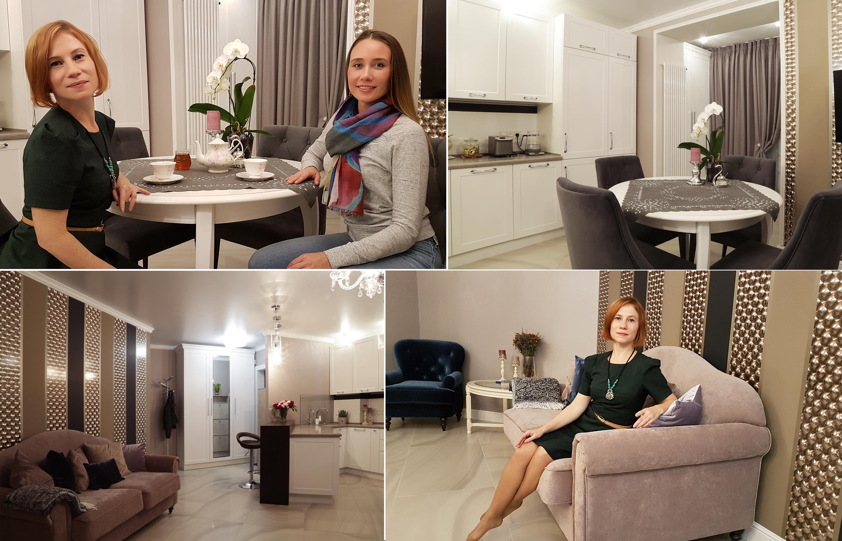 """Интерьер кухни-гостиной в ЖК """"Весна"""""""