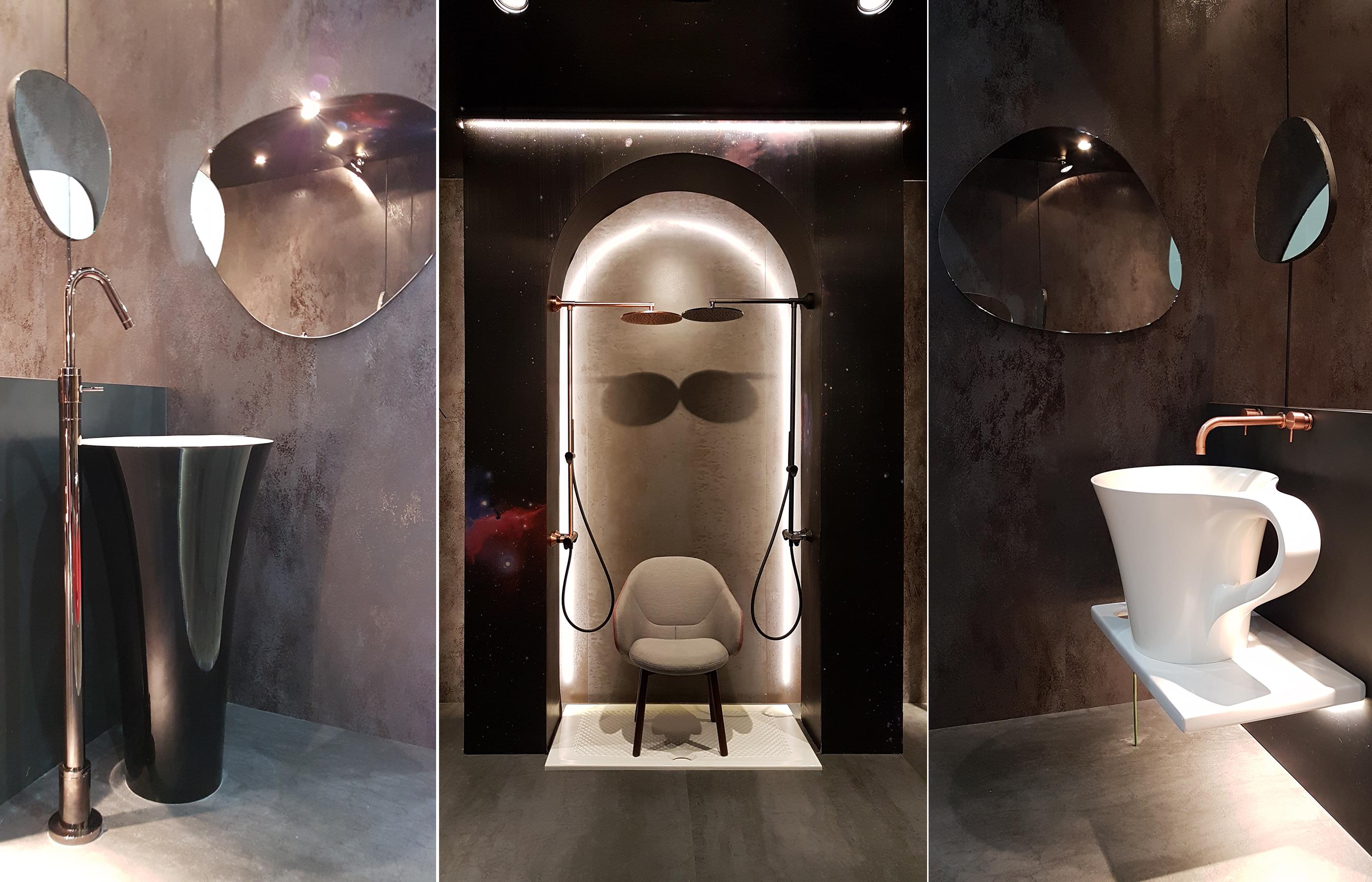 """Интерьер ванной комнаты """"Размышление о вечности"""", автор Мария Романова"""