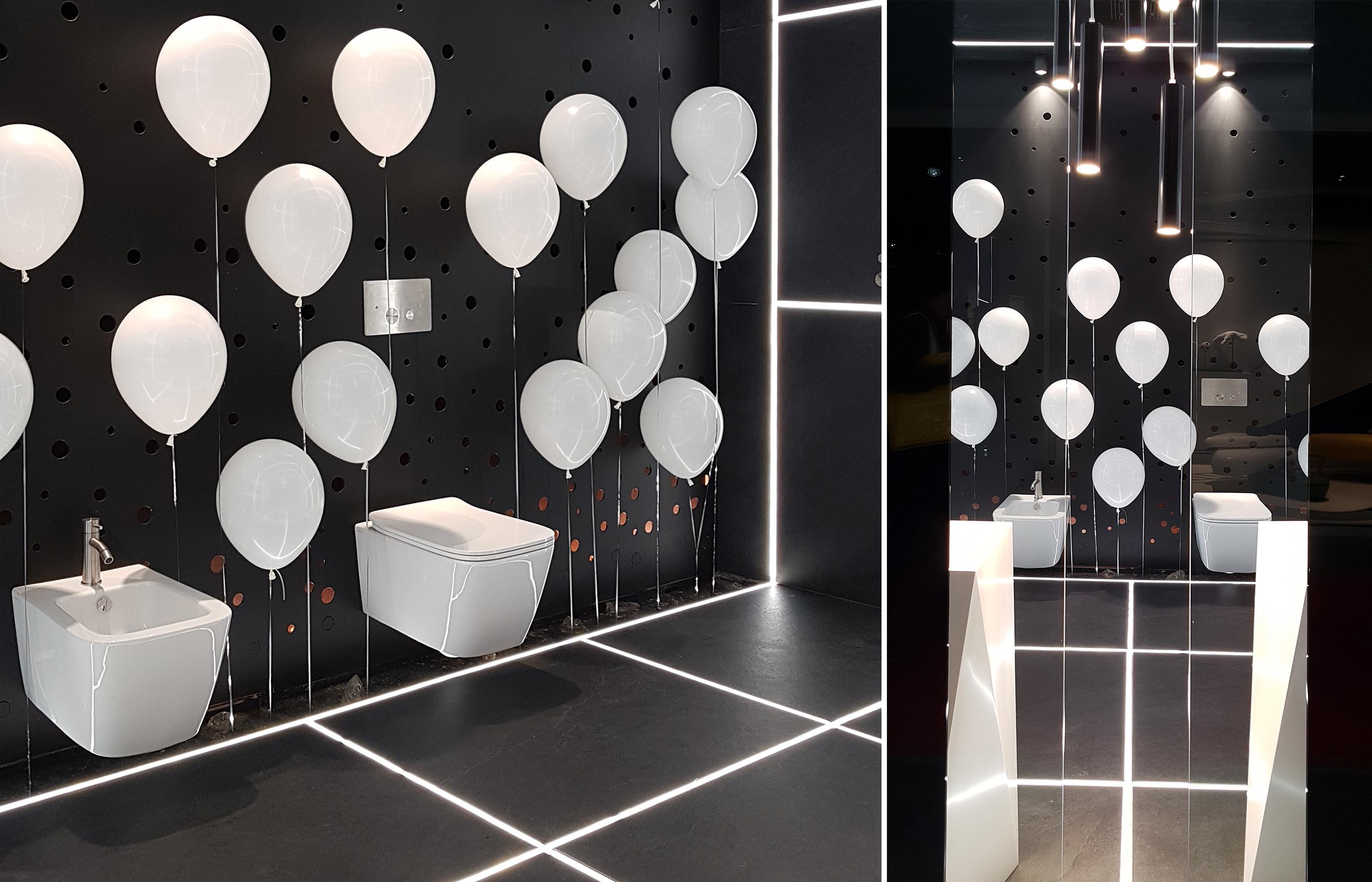 Проект ванной комнаты, автор Борис Уборевич-Боровский