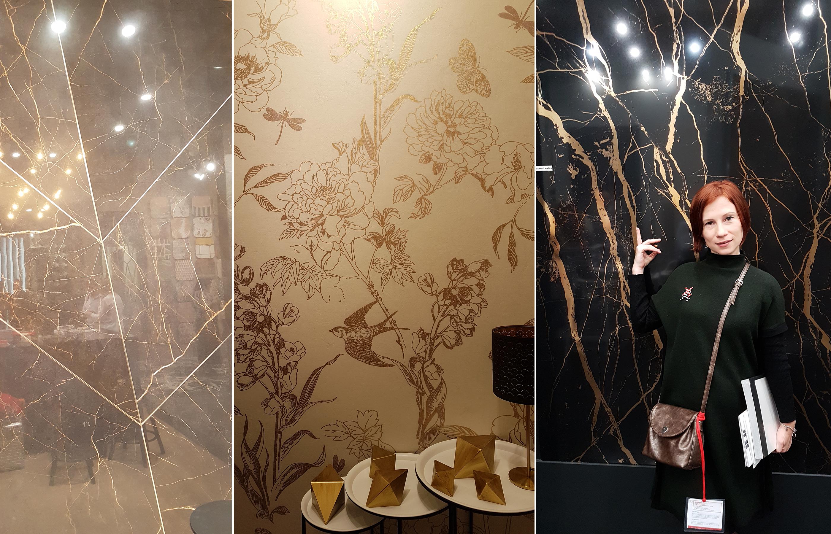 Керамогранит крупного формата, с необычной фактурой, может стать настоящим украшением для дизайна интерьера гостиной