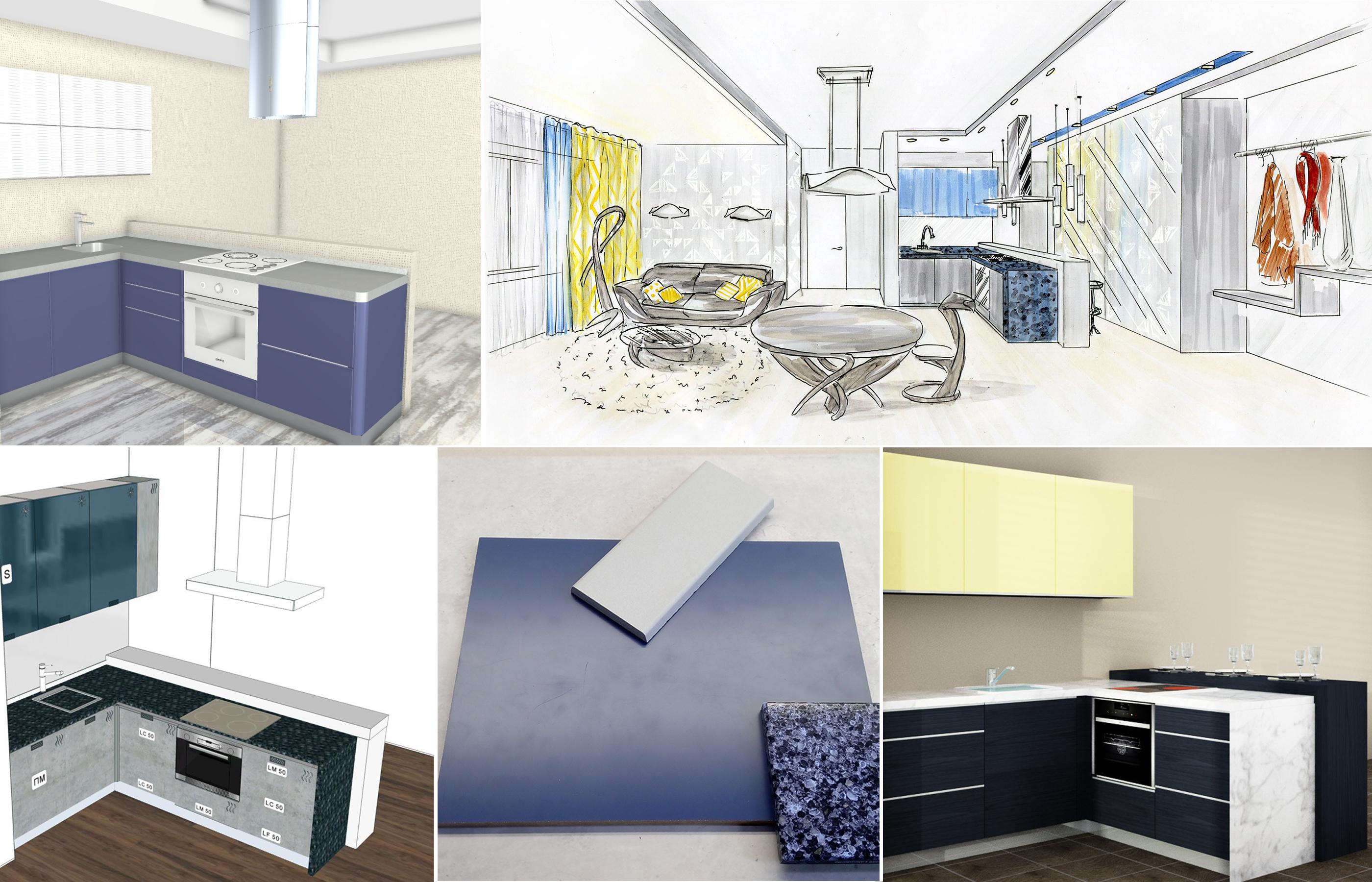 Подбор материалов для кухонной мебели