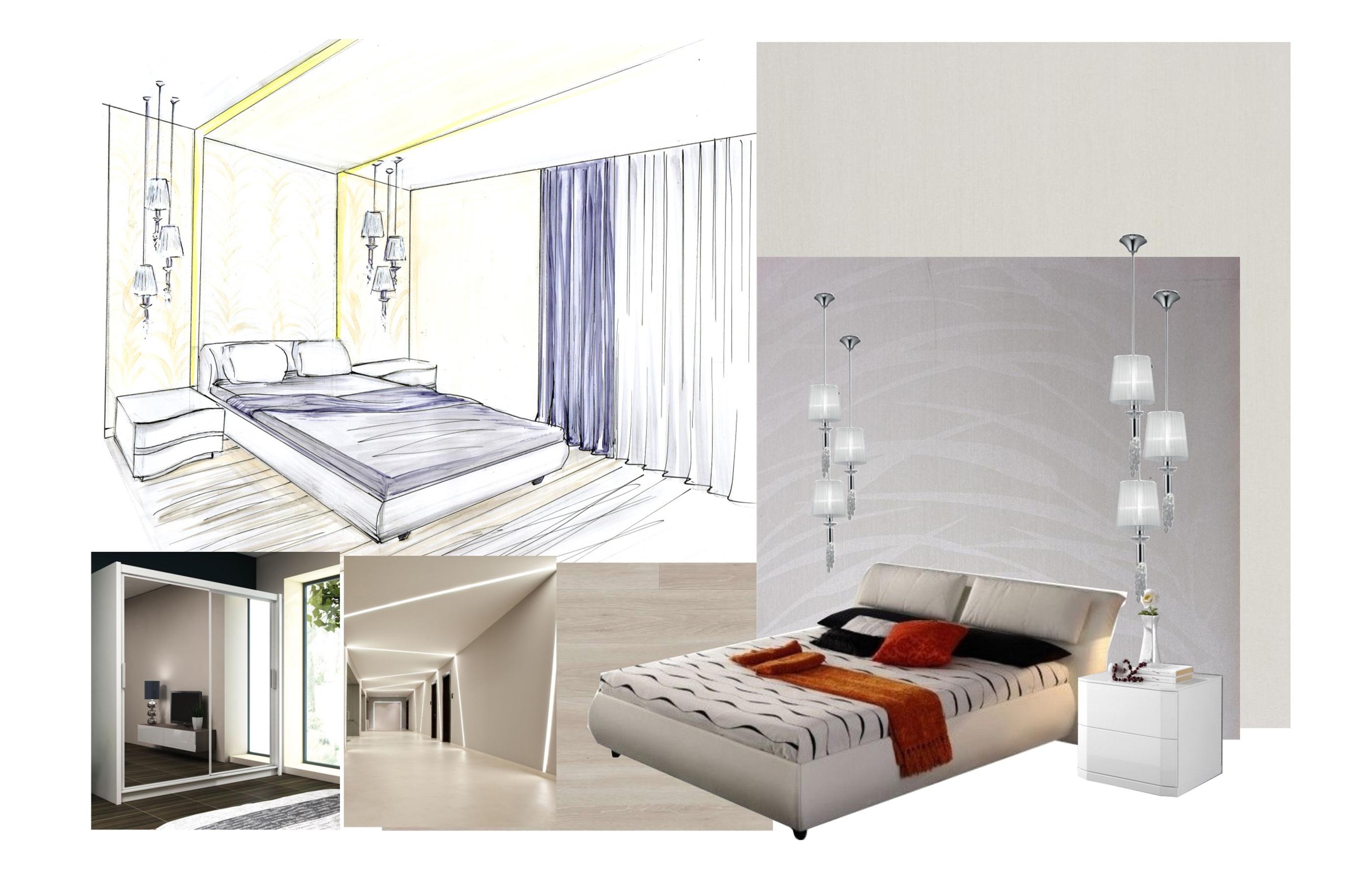 Концепция дизайна интерьера спальни