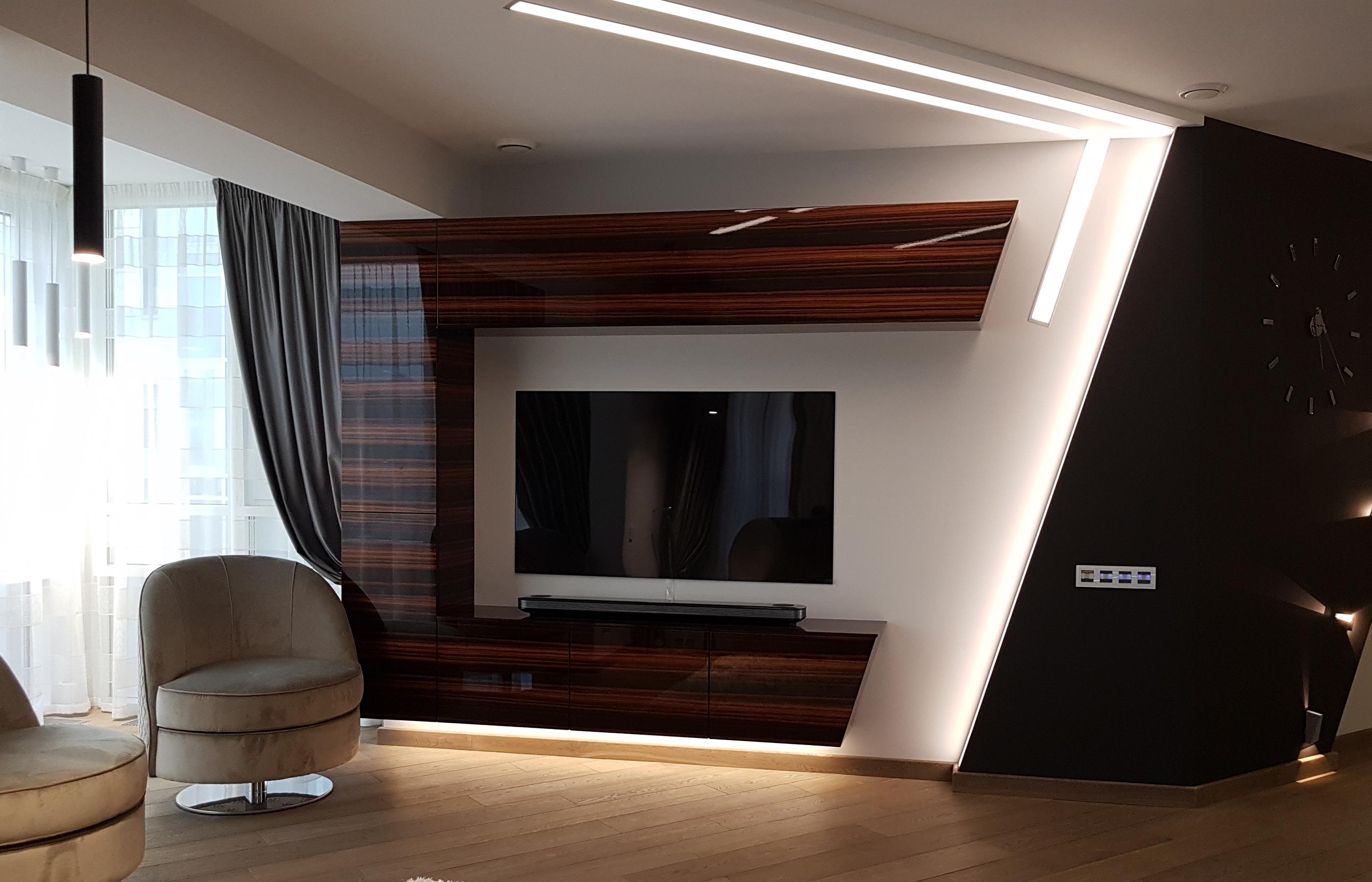 Дизайн интерьера зоны гостиной