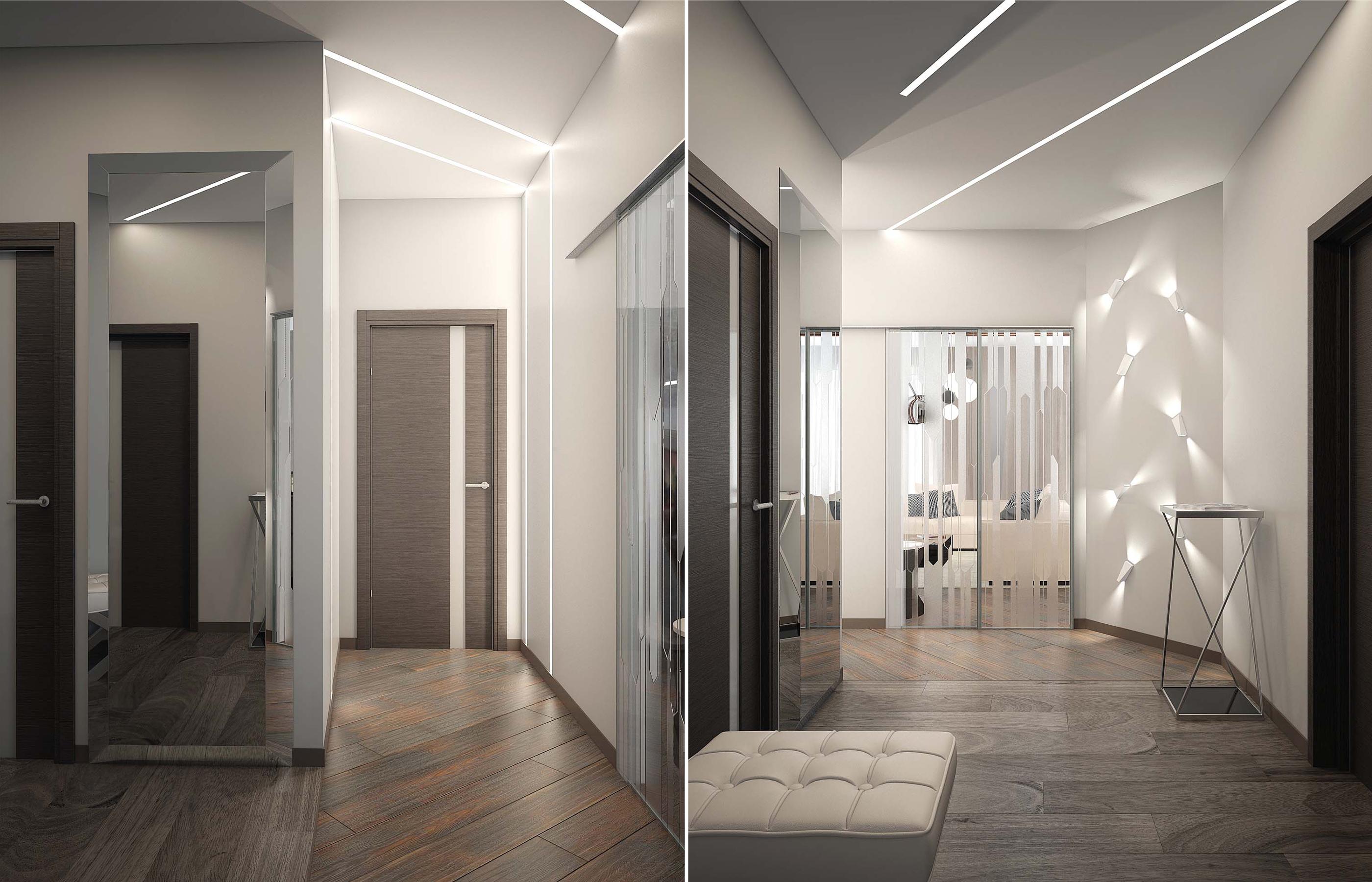 Линейные светильники в дизайне интерьера прихожей
