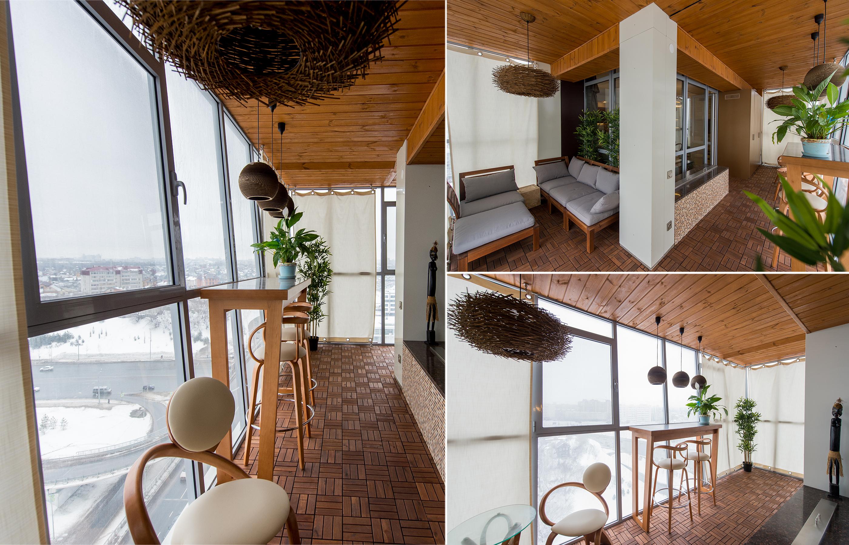 Дизайн интерьера остекленной террасы в квартире