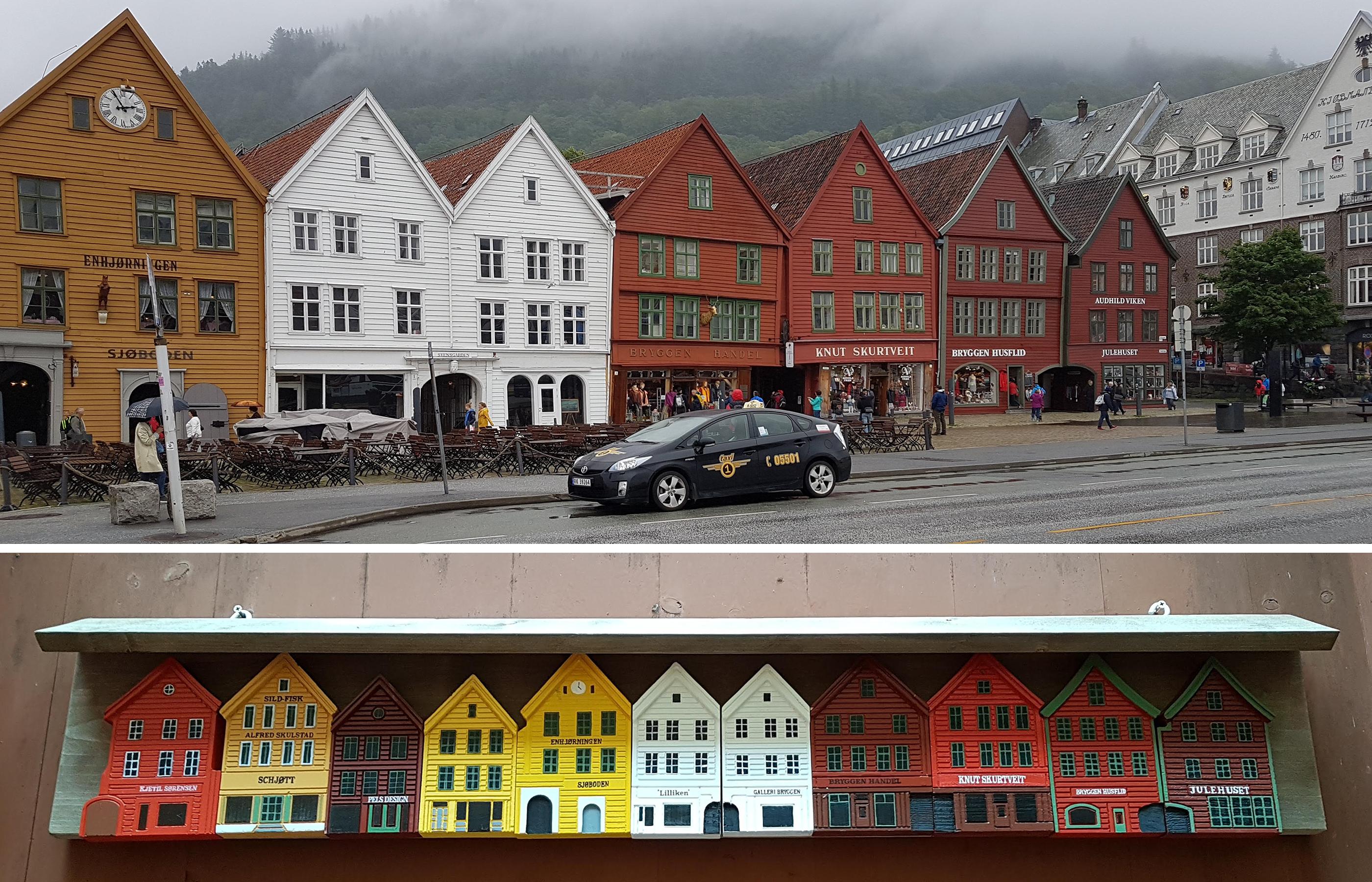 Средневековая набережная Бергена является одним из объектов всемирного наследия ЮНЕСКО