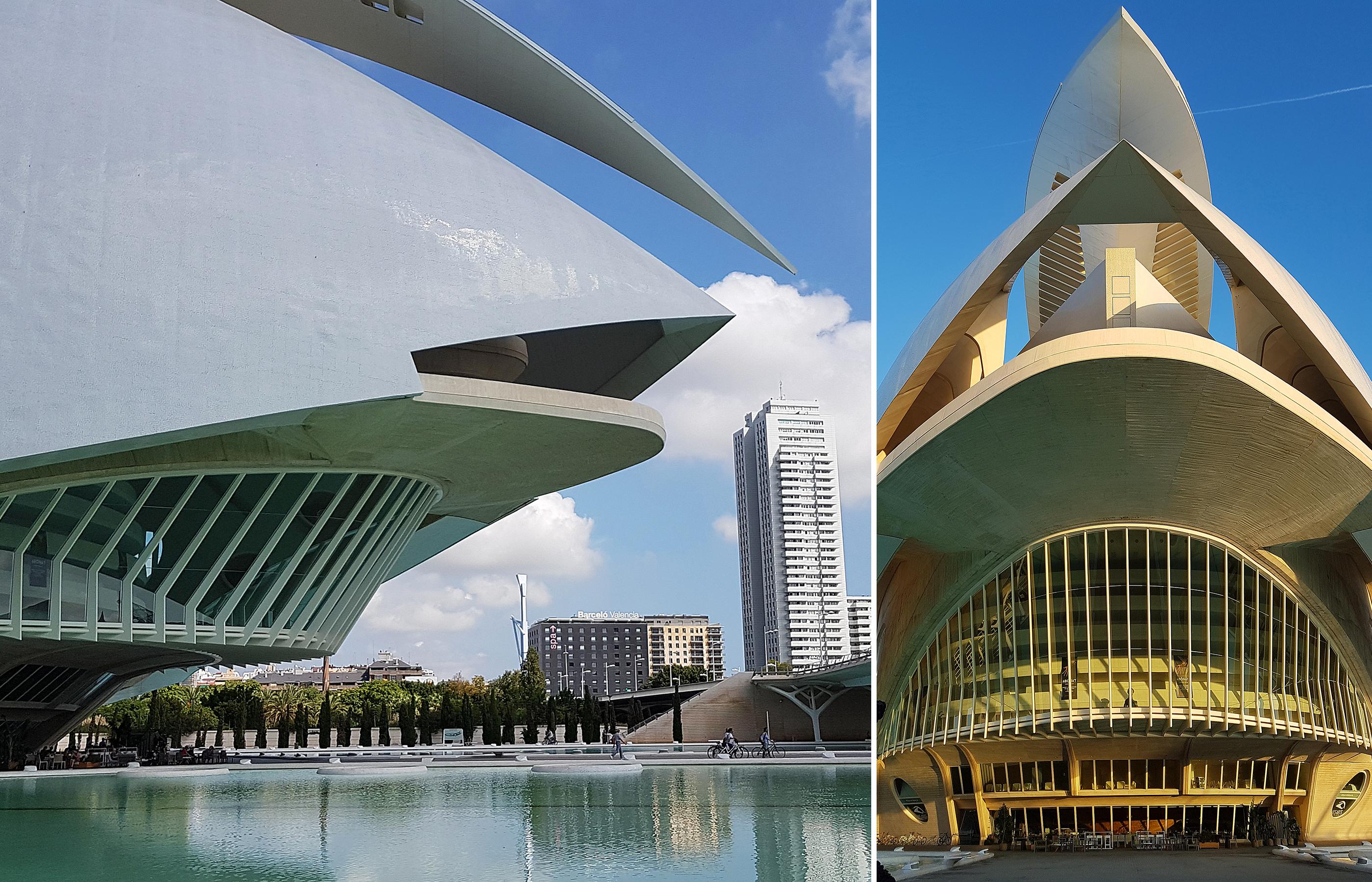 Здание оперного театра показалось мн похожим на космический лайнер, готовый бесшумно взмыть в небо