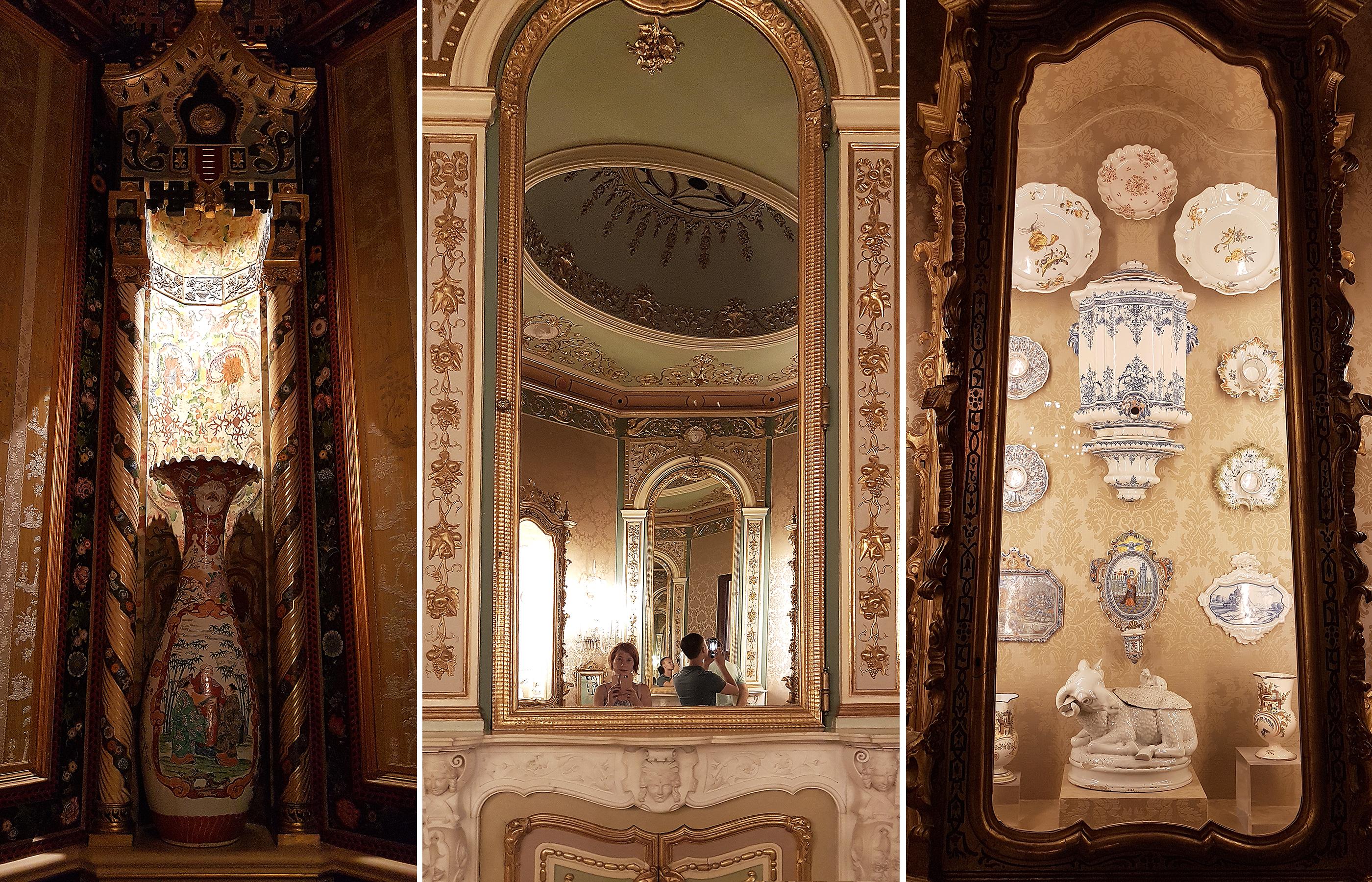 Нижний и первый этажи музея представляют собой дворцовую обстановку типичной знатной семьи ХIХ века