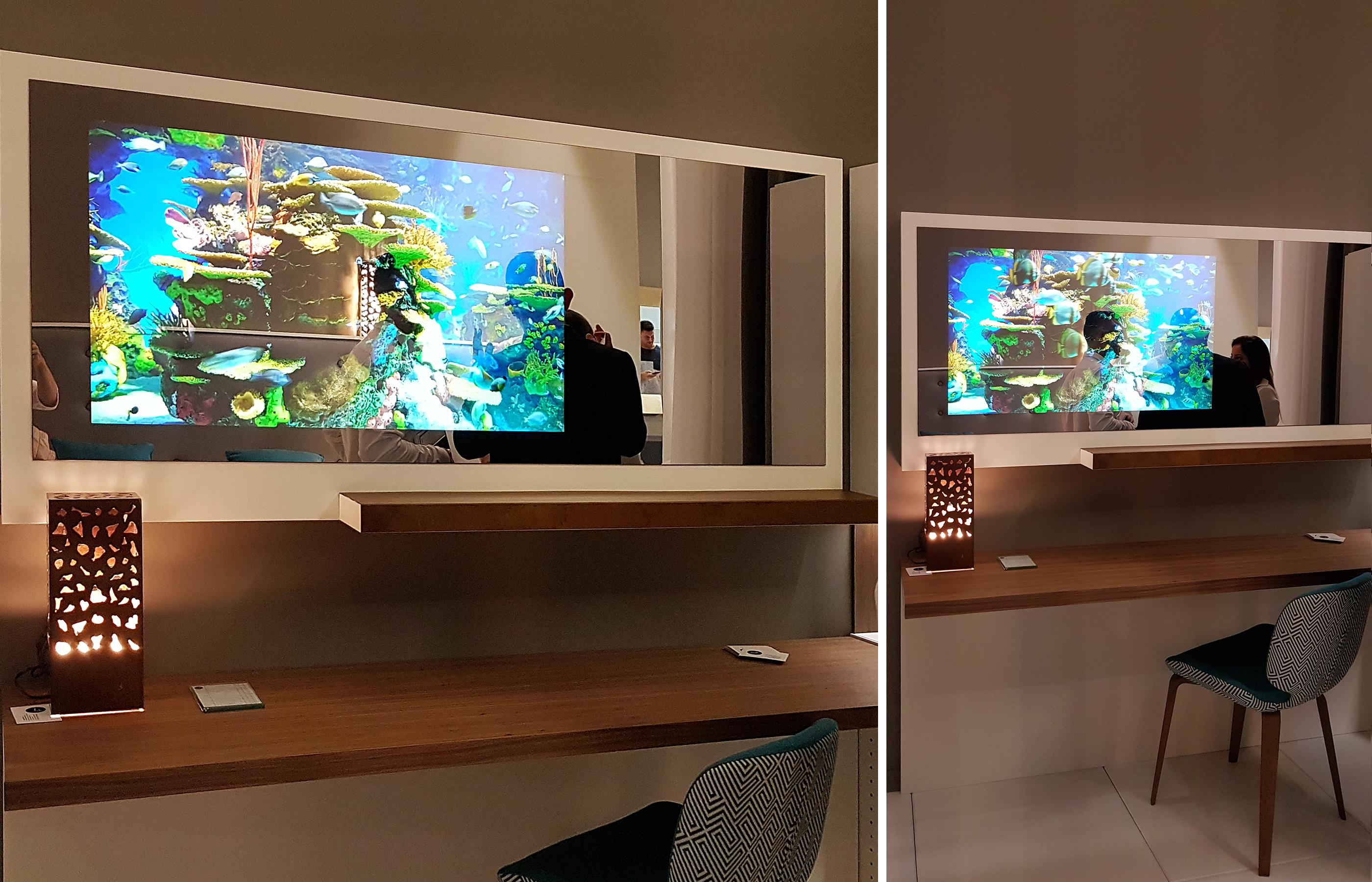 Зеркало со встроенным телевизором