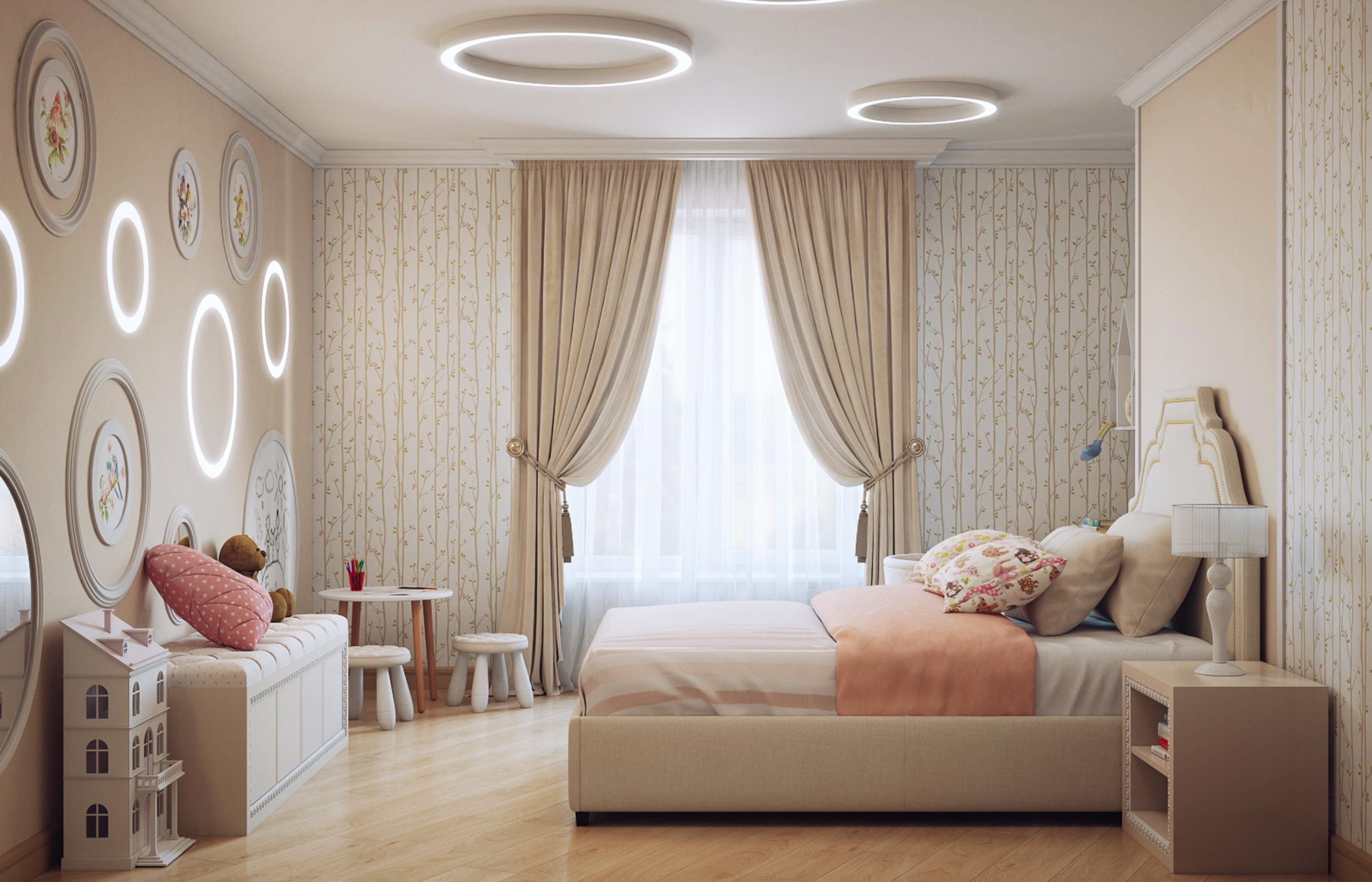 Дизайн интерьера комнаты девочки