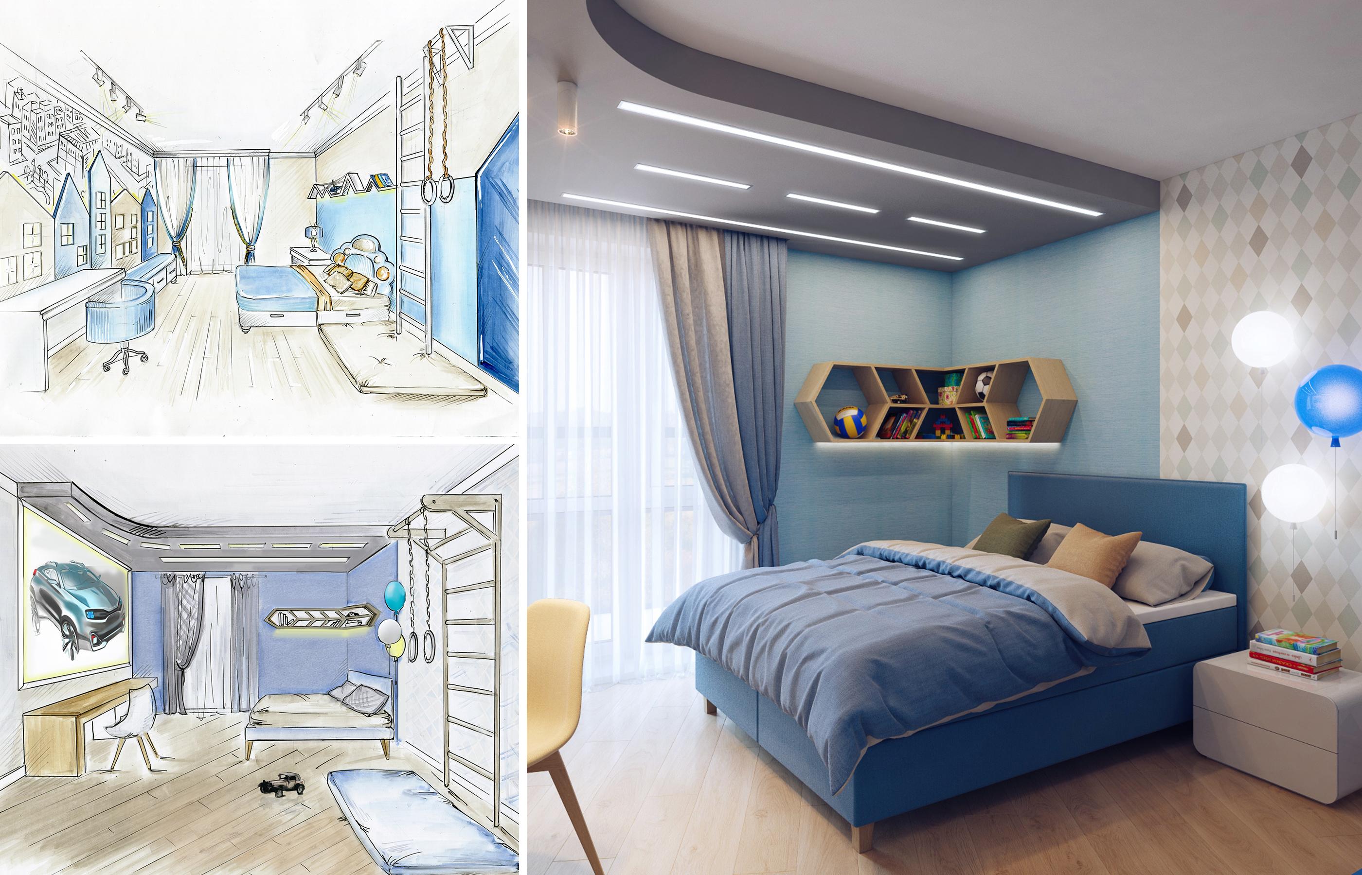 Варианты дизайна интерьера комнаты мальчика