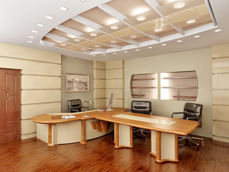 Дизайн рабочего кабинета в офисе фото