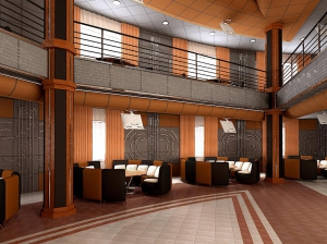14 вариант дизайна интерьера ресторана