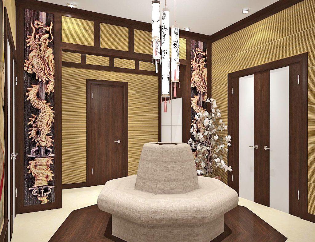 Дизайн интерьера прихожей в японском стиле